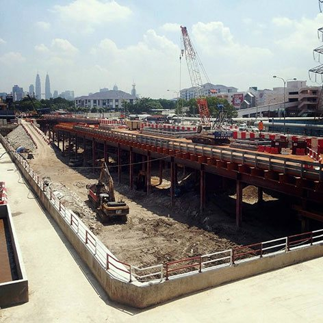 Ongoing constructions near Maluri LRT Station