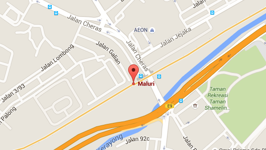 Location of Maluri LRT Station