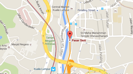 Location of Pasar Seni LRT Station