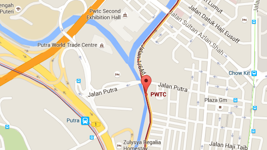 Location of PWTC LRT Station