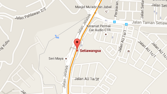 Location of Setiawangsa LRT Station