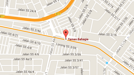 Location of Taman Bahagia LRT Station