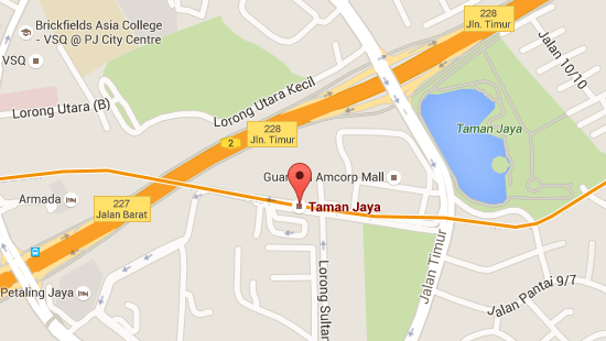 Location of Taman Jaya LRT Station