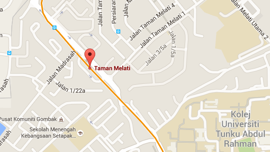 Location of Taman Melati LRT Station