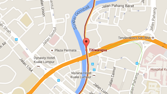 Location of Titiwangsa LRT Station