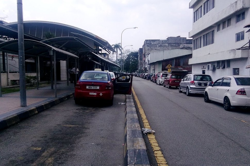 Covered walkway to LRT station