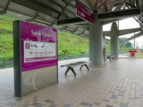 Platforms for boarding the KLIA Transit train