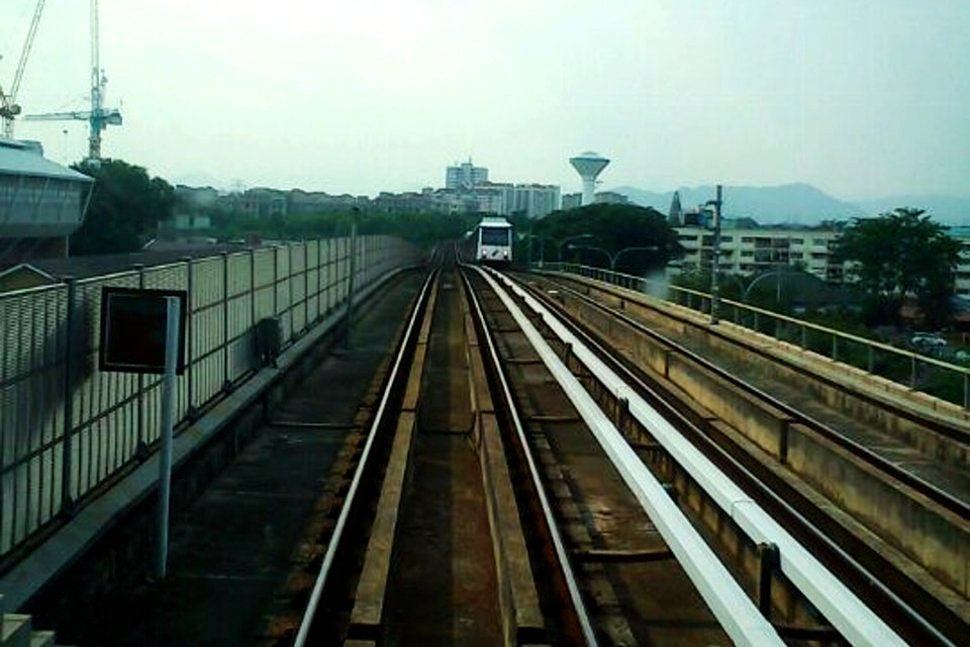LRT train approaching the station