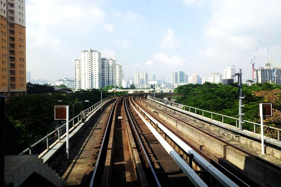 The view of the city from the LRT station