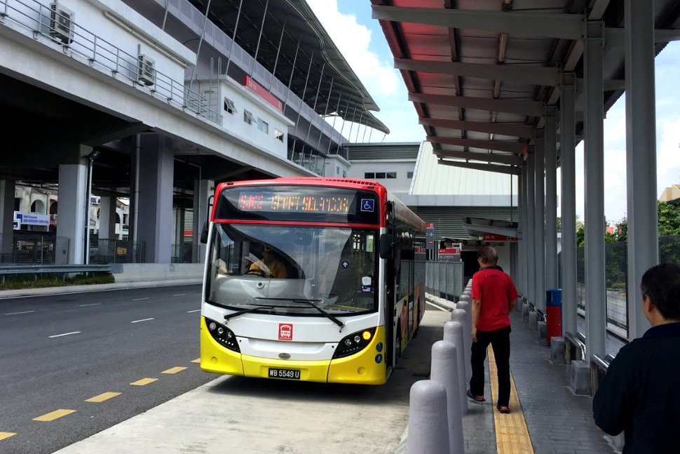 Shuttle bus waiting at LRT station