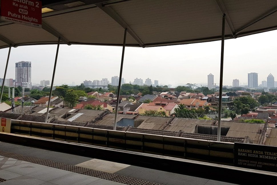 View from boarding platforms at SS 18 LRT station