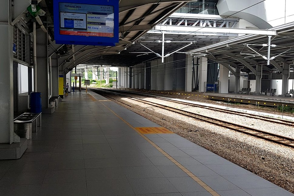 Boarding platforms at KTM station