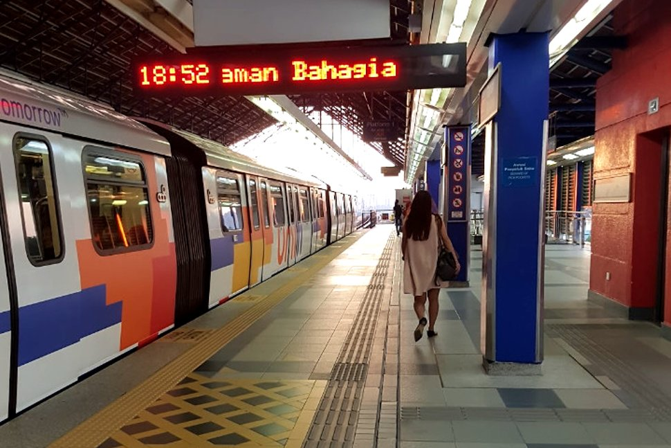 Boarding leveal at Taman Bahagia LRT station