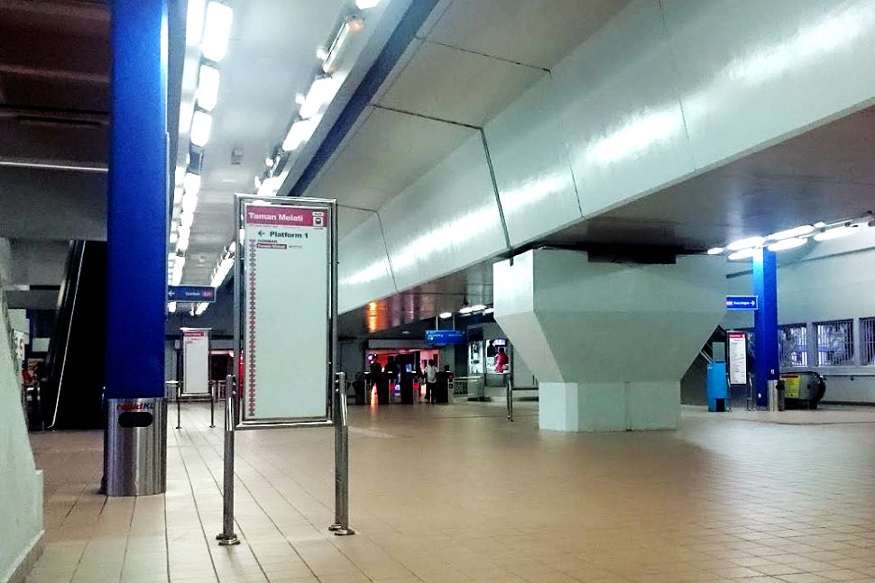 Concourse level at LRT station