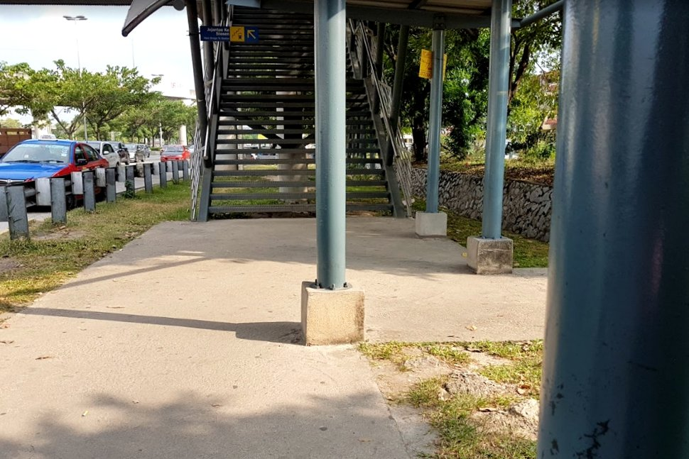 Pedestrian bridge for residents across the Jalan Kuching road