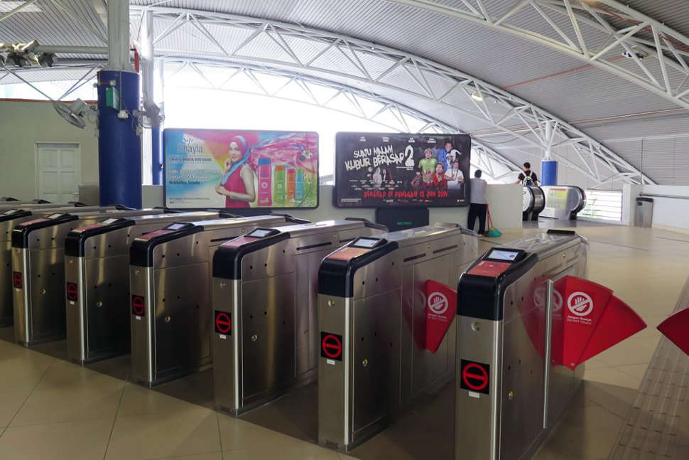Faregates at concourse level