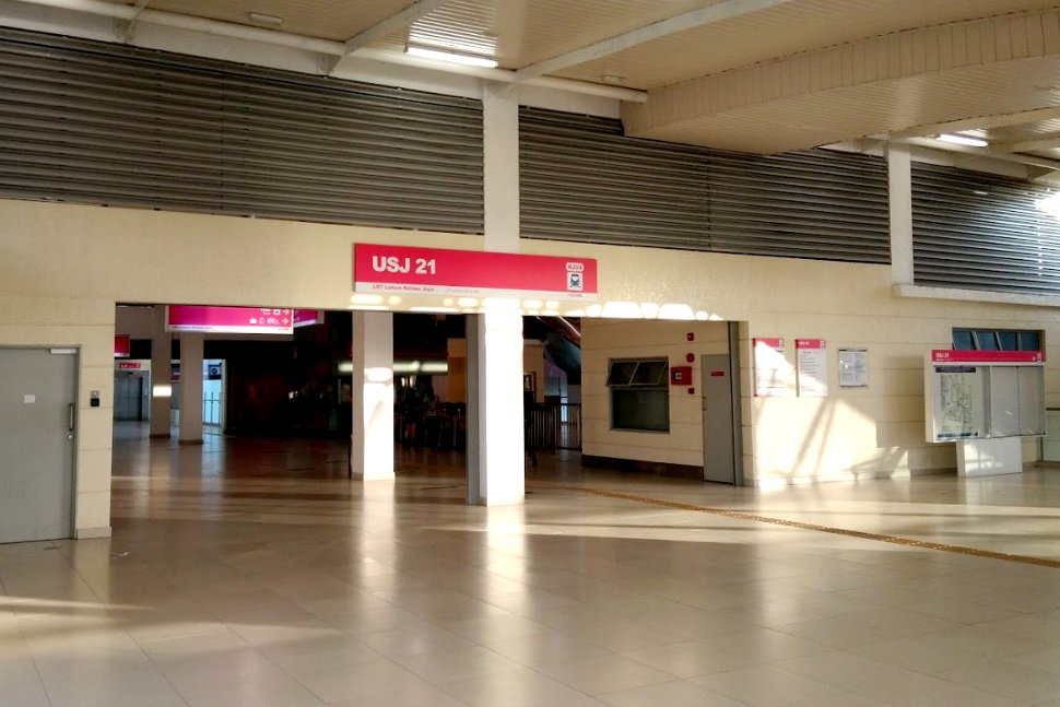Concourse level at USJ 21 LRT station