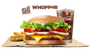 Whopper with Cheese- Burger King