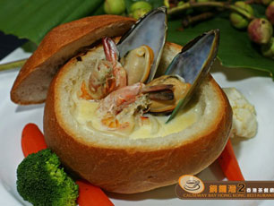 Cream Seafood with Bread - Causeway Bay Exprezzz
