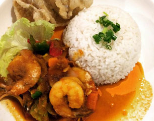 Chef Chow Nyonya Assam Prawn Rice