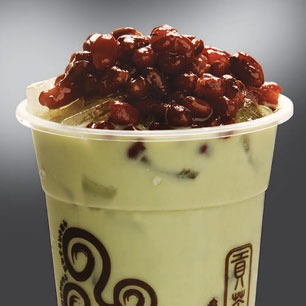Gong Cha Matcha Milk with Red Adzuki Beans