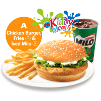 Chicken Burger Meal - Marrybrown