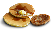 Hotcakes (2pcs) with sausage - McDonald's
