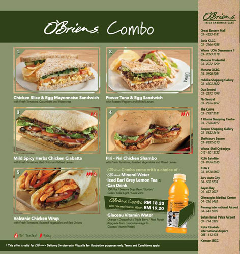 Obriens Combo - O'Briens Irish Sandwich Cafe