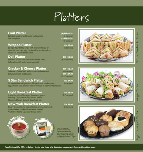 Obriens Platters - O'Briens Irish Sandwich Cafe