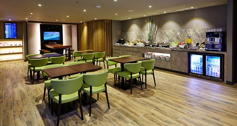Dining area, Plaza Premium Lounge