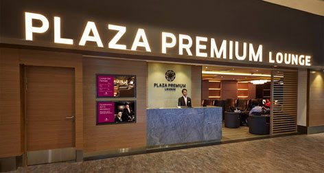 Reception area, Plaza Premium Lounge at International Daparture