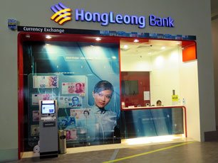 Hong Leong Currency Exchange counter