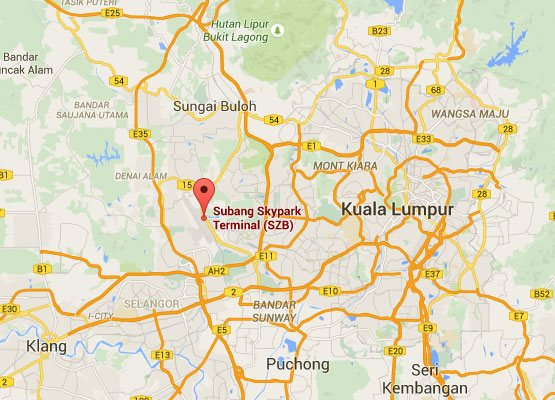 Location of Subang Skypark Terminal