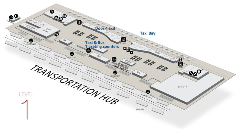 KLIA2 Taxi Services location map