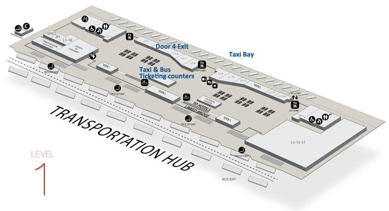 KLIA2 Taxi Services location map