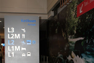 Signboard for Taxi services at Gateway@KLIA2