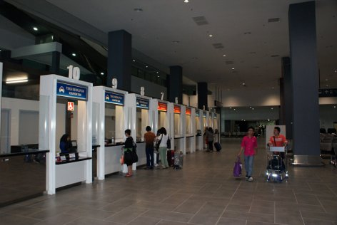 Taxi ticketing counters