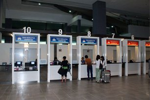 Taxi counters at the KLIA2