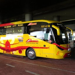 Aerobus, shuttle bus between klia2, KL Sentral, Genting Highlands, Paradigm mall at PJ, and Premiere Hotel at Klang