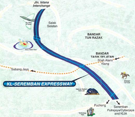 Kuala LumpurSeremban Expressway E37 Malaysia Airport KLIA2 info