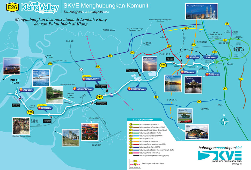 South Klang Valley Expressway (SKVE) Map
