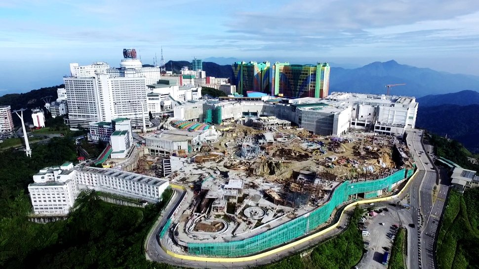 Aerial view of Genting Highlands, Feb 2017