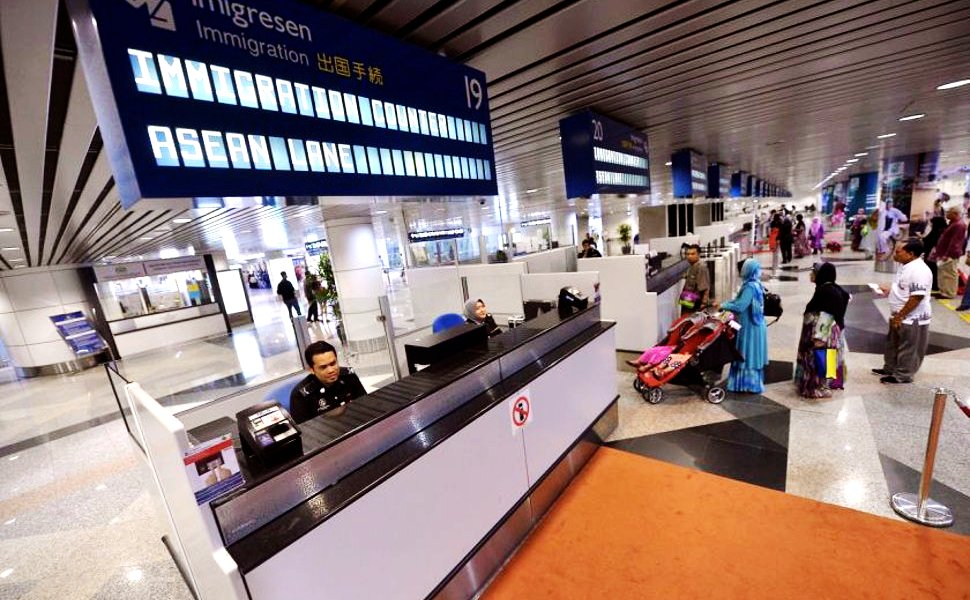Immigration counters at KLIA for documents check