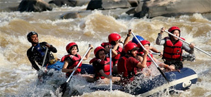 Whitewater rafting at Padas River