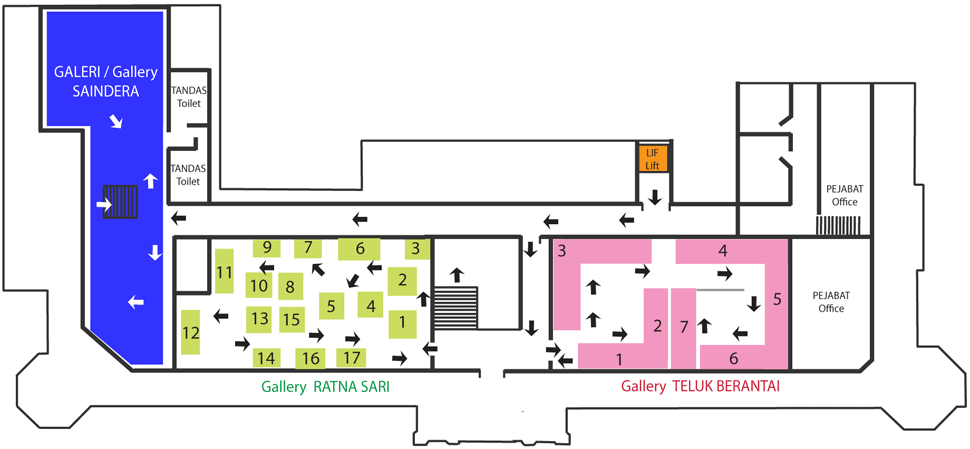 National Textile Museum First Floor Layout