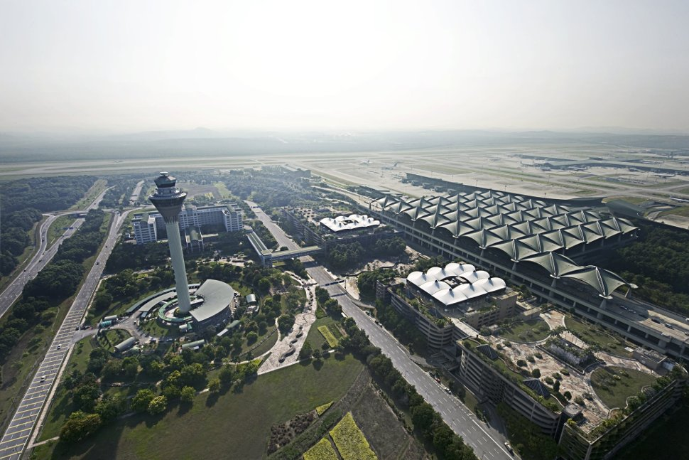 Aerial view of KLIA and its surrounding area