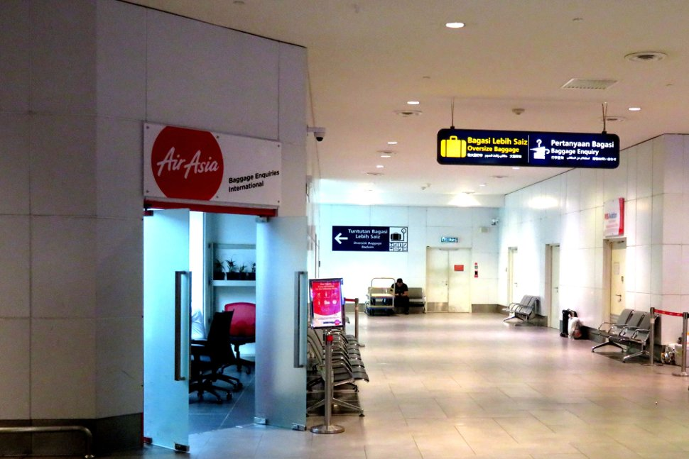 AirAsia Baggage Inquiries (International) office at the baggage reclaim area