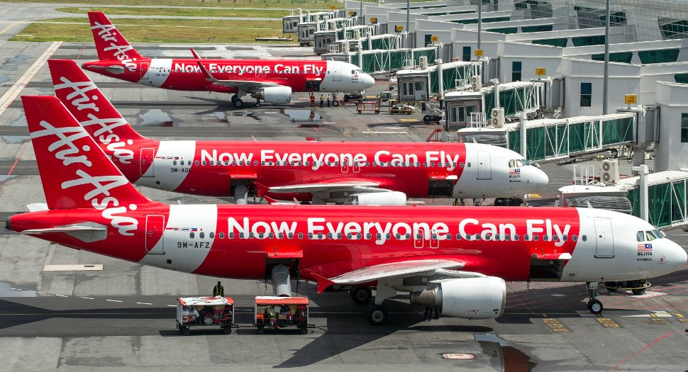 AirAsia's flights at the klia2