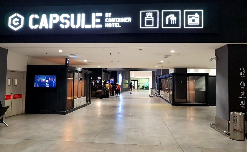 Capsule by Container Hotel is located at Level 1 of the Gateway@klia2 mall