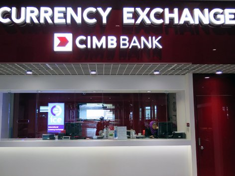 CIMB Bank Currency Exchange Counter